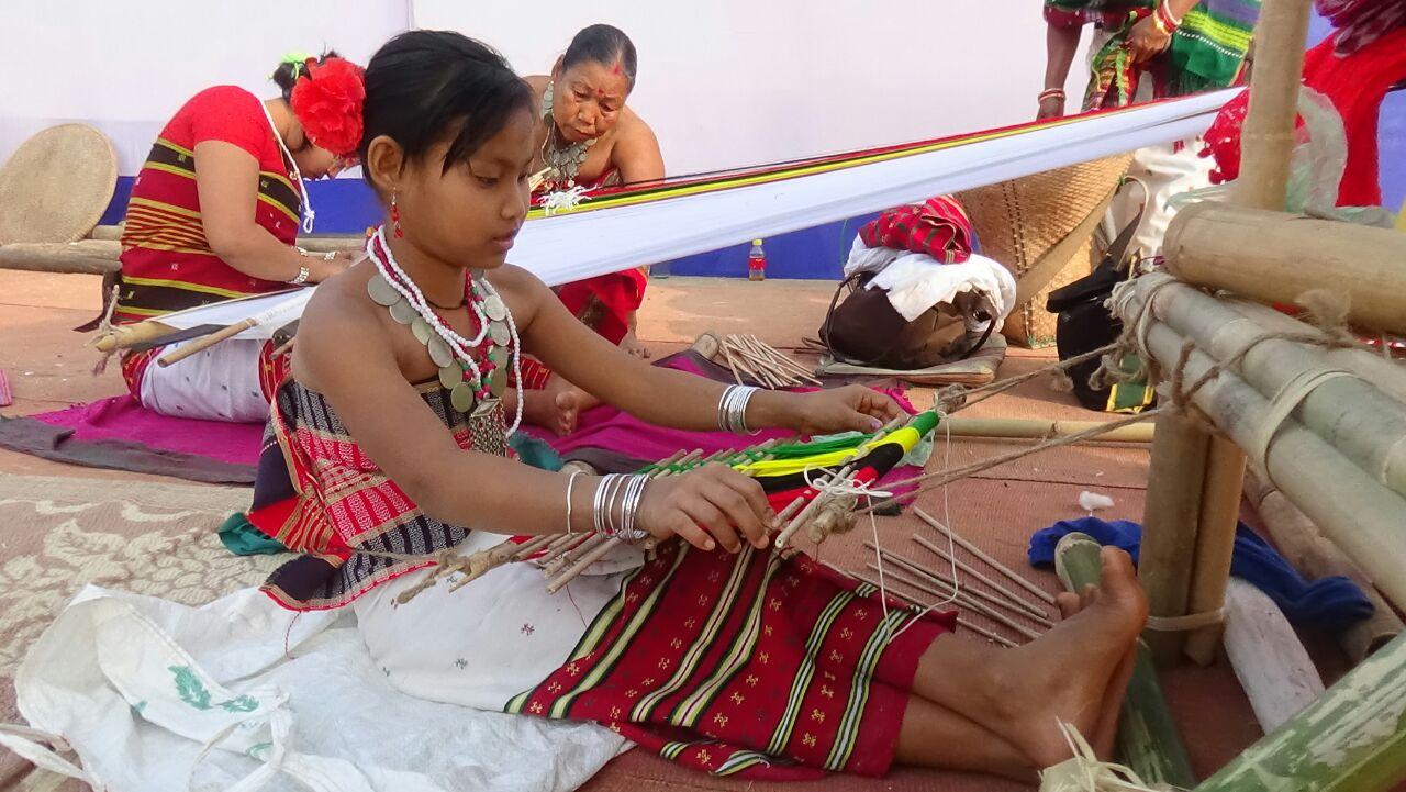 Loinloom weaving of tribes of Tripura