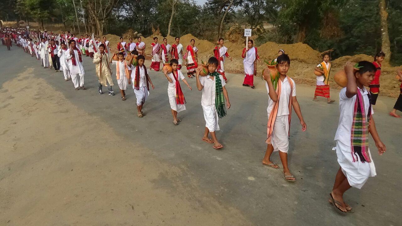 Rally during Tribal Festival-2016, Tripura